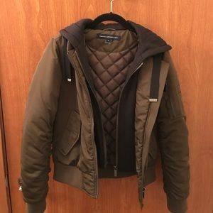 a18d0aa34 French Connection Hooded Bomber Jacket SMALL